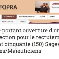 Arrêté portant ouverture d'un test de sélection pour le recrutement de cent cinquante (150) Sages-femmes/Maïeuticiens