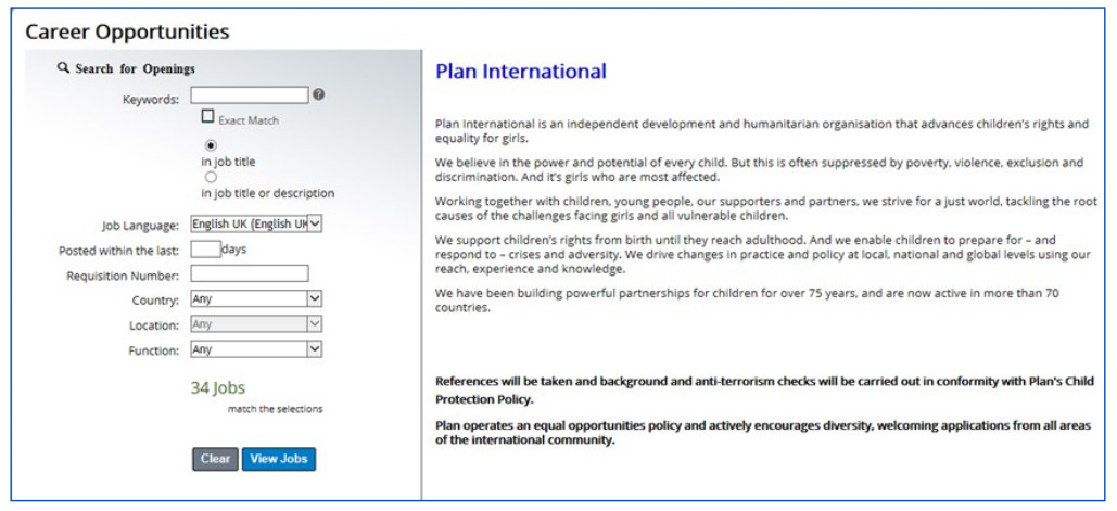 Comment Postuler plus facilement aux Offres d'Emplois de Plan International : procédure expliquée
