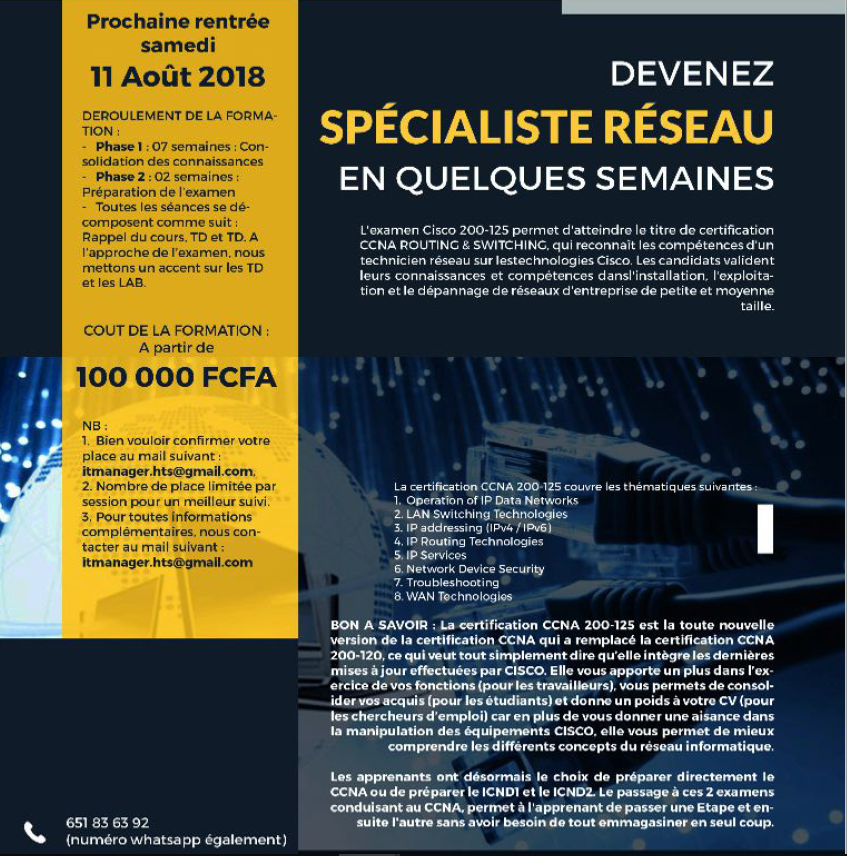 formations pour les certifications cisco  ccna  u00e0 camercode