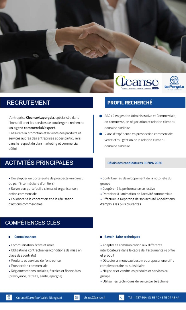 EMPLOIS COMMERCIAL