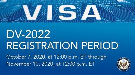 DV 2022 Electronic Diversity Visa Program